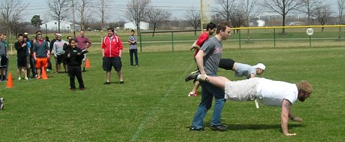 RecSports Field Day 2014 wheelbarrow race